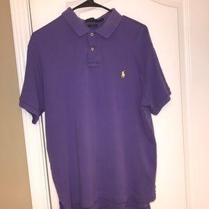 Custom Fit Polo Ralph Lauren purple collared shirt